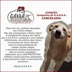 G.A.R.R.A. - Grupo de Ação, Resgate e Reabilitação Animal: Mais uma Campanha de Adoção CANCELADA!