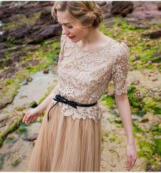 Vintage Retro 20's Lace Evening Dress Size 8-14 Wedding Bridesmaid Party Beach   eBay