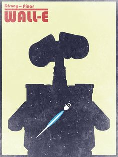 disney pixar retro wall-e poster Disney Kunst, Arte Disney, Disney Art, Disney Pixar, Series Poster, Poster S, Minimal Movie Posters, Cool Posters, Wall E Movie