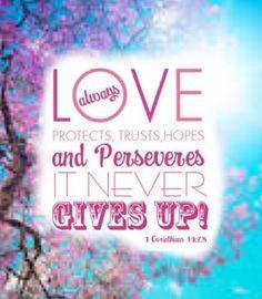 1 Corinthians 13:7 It always protects, always trusts ... ❤ - made by Karen Munoz Silvas with Bazaart #collage