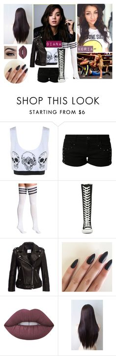 """wwe roleplay : triple treat match"" by j-etblackheart ❤ liked on Polyvore featuring WWE, even&odd, American Apparel, Converse, Anine Bing and Lime Crime"