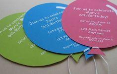 Invitacions festa d'aniversari infantil per fer amb els nens