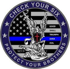 Saint Michael Blue Line Police Law Enforcement LE St. Cop Quotes, Police Quotes, Support Law Enforcement, Law Enforcement Officer, Law Enforcement Tattoos, Law Enforcement Quotes, Blue Line Police, Police Life, Thin Blue Lines