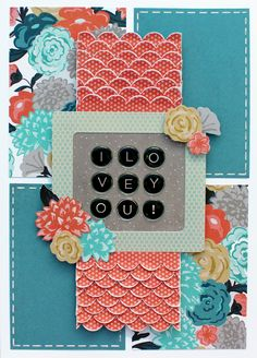 Basic Grey Card of the Month -January 2016 featuring Typeset found at FotoBella.com