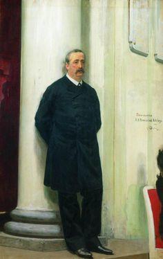 Portrait of composer and chemist Aleksander Porfirievich Borodin - Ilya Repin