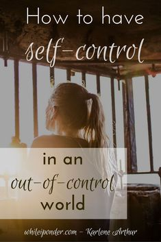 Can we have self-control in an out-of-control world? Here are 3 steps to help you live in self-control or regain it, if you've lost control. Christian Life, Christian Living, Christian Women, Youth Lessons, Working On Me, Self Control, Christian Inspiration, Encouragement Quotes, Spiritual Growth