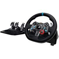 Logitech Dual-motor Feedback Driving Force Gaming Racing Wheel with Responsive Pedals for PlayStation 4 and PlayStation Boutique Closet Luxury- Nintendo Ds, Switch Nintendo, Xbox 360, Xbox One Pc, Disney Infinity, Tv 32 Pouces, Playstation Store, Grand Theft Auto, Ps4 Black