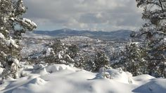 Pioneer Parkway Scenic Overlook - Prescott, Arizona -SNOW!!! :) Granite Mountain Hotshots, Prescott Arizona, Heaven On Earth, Winter Time, Photo Credit, Natural Beauty, Old Things, United States, Lost