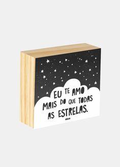 Box ilustrado - Eu te amo mais do que as estrelas.