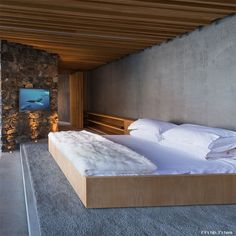 seascape retreat bedroom by Pattersons Associates Architects.