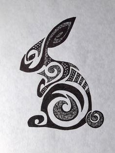 Thrilling Keep A Sketchbook Have Fun Ideas. Awe-Inspiring Keep A Sketchbook Have Fun Ideas. Bunny Tattoos, Rabbit Tattoos, Arte Tribal, Tribal Art, Doodles Zentangles, Watership Down, Rabbit Art, Bunny Art, Celtic Art