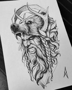 Zeus Tattoo, Fenrir Tattoo, Norse Tattoo, Armor Tattoo, Thai Tattoo, Maori Tattoos, Tribal Tattoos, Tattoo Design Drawings, Tattoo Sleeve Designs