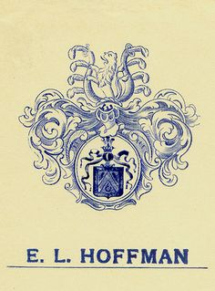 [Bookplate of E. L. Hoffman] by Pratt Libraries, via Flickr