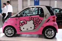 pink 7: Hello Kitty Smart Car