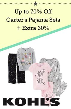 ded2528e5 Up to 70% Off Carter's Pajama Sets + Extra 30%, Kohl's - DealsPlus