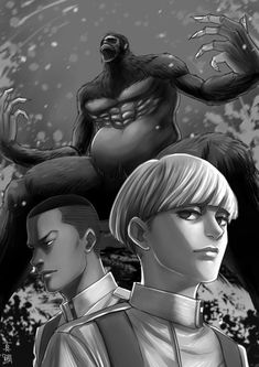 """""""To me, he's a god!"""" - Yelena Feat. Onyankapon & the god himself, Zeke Yeager. By aotlimit16 [twitter]"""
