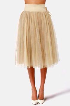 Midi Tulle Skirt