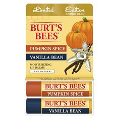 Burt's Bees Lip Balm - Pumpkin Spice and Vanilla