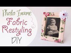 Tuto: Rivestimento cornice in Stoffa - Photo frame fabric restyling DIY - YouTube