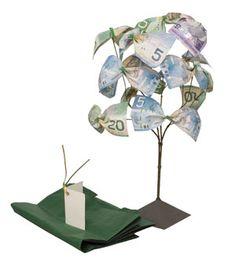 DIY money tree: great gift idea