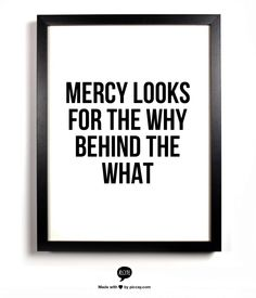 Mercy looks for the why behind the what, Joyce Meyers