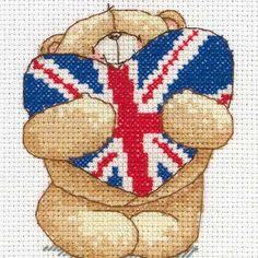 Union Jack Mini Cross Stitch Kit