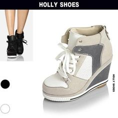 Holly Shoes  Wedge High-Top Sneaker. OH I WANT IT