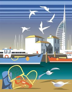 The Camber, Portsmouth Art Print