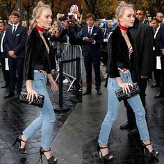 Serious inspo from @lilyrose_depp at the Chanel show in Paris ❤️ #pfw
