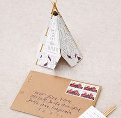 Tipi save the date by We Are Device