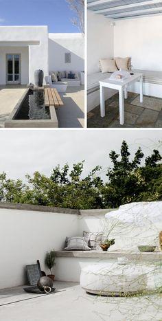Los bancos exteriores de obra una opci n muy chula para for Bancos exteriores jardin