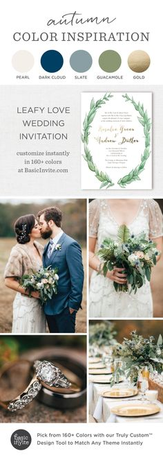 These Leafy Love invitations speak for themselves and they're saying bring on the rustic romance! See more here: https://www.basicinvite.com/wedding/wedding-invitations.html