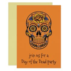 #Day Of The Dead Skeleton Party Invitations - #halloween #invitation #cards #party #parties #invitations #card