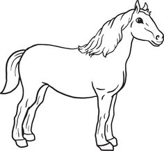 Horse - coloring pages - Pony with saddle | Printable Horses ...