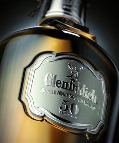 Glenfiddich 50 year-old single malt scotch whisky Cigars And Whiskey, Scotch Whiskey, Bourbon Whiskey, Tequila, Vodka, Spiritus, Single Malt Whisky, In Vino Veritas, Wine And Spirits