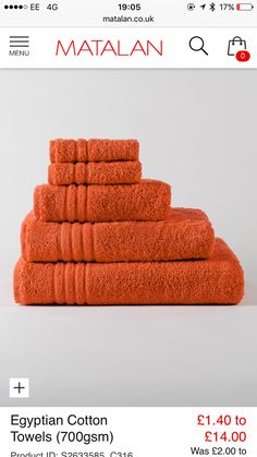 Fresh orange Bath Mat Set
