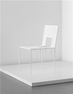 NENDO | 'Mimicry Chairs' installation, commissioned by the London Design Festival, 2012 | Painted steel, painted mesh steel