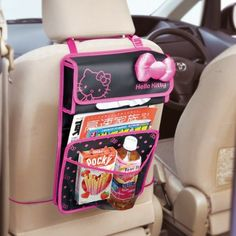 Hello Kitty Auto Car Back Seat Organizer Big Ribbon Sanrio