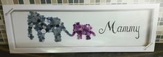 Mummy and baby elephant button art!