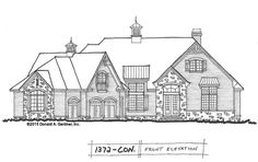 Conceptual Design 1372 has convenient amenities and a stylish #Craftsman exterior. 3 beds, 3.5 baths, approx. 3200 sq. ft. with study, extra #storage, walk-in #pantry, and screened porch. Leave a comment with your suggestions! http://houseplansblog.dongardner.com/conceptual-design-1372-convenient-craftsman-ranch/