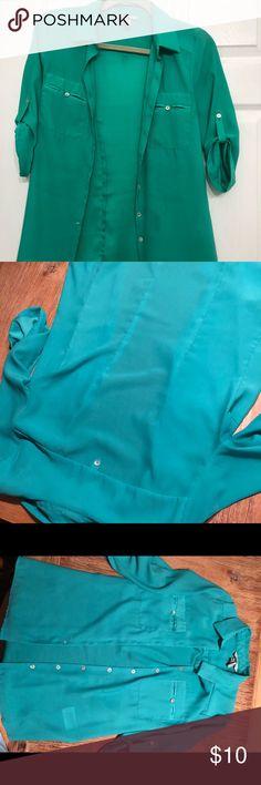 H&M green shirt H&M green shirt H&M Tops