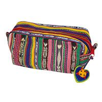 Guatemalan Recycled Rainbow Cosmetic Bag at The Animal Rescue Site