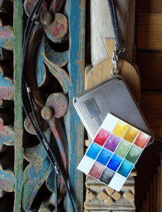Antique Silver Watercolor Locket by EarthMineralArts on Etsy