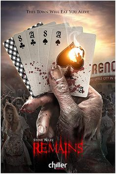 A freak accident turns a bulk of the world's population into lethal flesh-eating zombies. A small and desperate group of uninfected human survivors take refuge in a vacant casino in Reno, . Top Movies, Movies To Watch, Movies And Tv Shows, Zombie Movies, Scary Movies, Horror Movie Posters, Horror Movies, 30 Days Of Night, How To Become Smarter