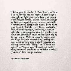 Suicide loss can create intense grief. Here I share a few words by Lexi Behrndt, the writer behind Scribbles & Crumbs. I found these words so wise, powerful and comforting in my time of grief. I hope you find the same. #takeyourpineapplesout #pineapples #suicideawareness #suicideprevention #mentalhealth #scribblesandcrumbs #grief #quote All quotes were found on Pinterest. Credit to: Lexi Behrndt - Scribbles & Crumbs Loss Grief Grieving Pain Sadness Healing Love Quote