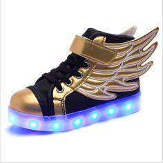 90ae2594ba39 Fine Kicks Winged Unisex Sneakers. Light Up ...