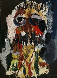 Karel Appel Portrait of César 1956 Oil on canvas Ulster Museum, Belfast Art Cobra, Art Informel, Tachisme, Pop Art, Dutch Artists, Art Moderne, Art Abstrait, Art For Art Sake, Outsider Art