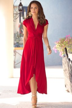 Flowy wrap dress