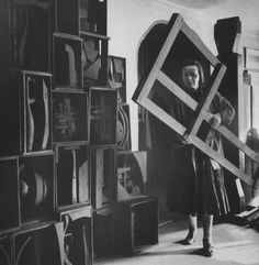 Louise Nevelson, sculptural assemblage