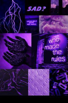 Dark Purple mood board aesthetic collage wallpaper